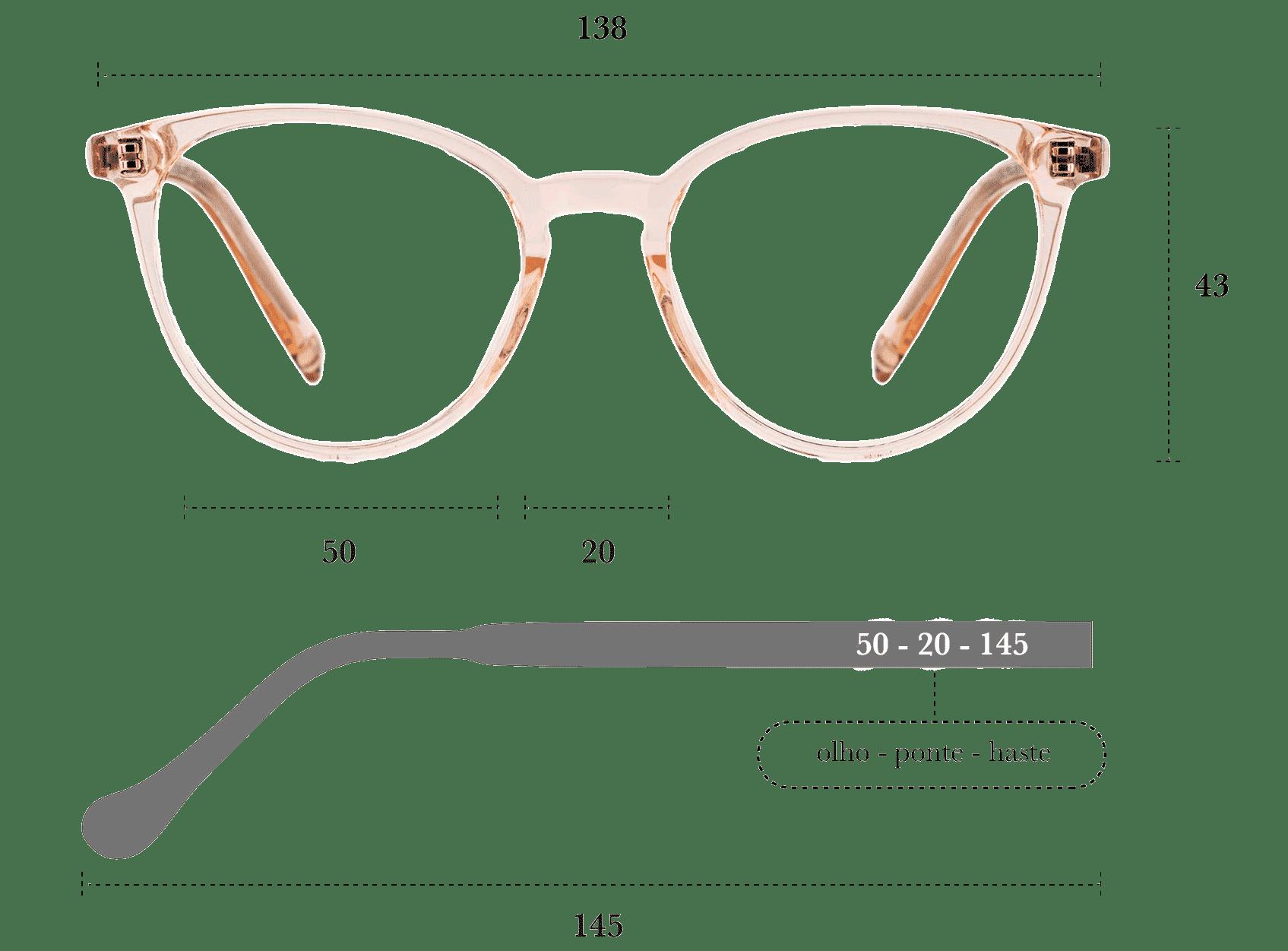 Desenho técnico do óculos Lung